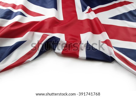 Union Jack flag on plain background Royalty-Free Stock Photo #391741768