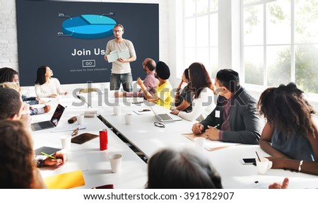 Join us Headhunting Company Hiring Concept #391782907