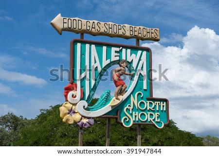 North Shore Sign Royalty-Free Stock Photo #391947844