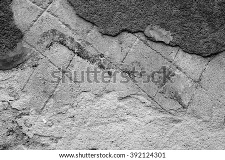 Old grey wall background. Grunge texture #392124301