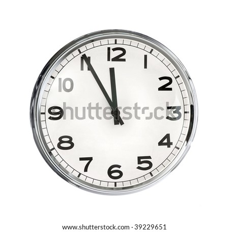Image of clock isolated on white background #39229651