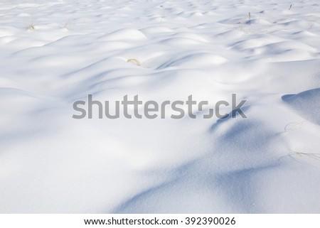 Snow on the frozen lake. 2  #392390026
