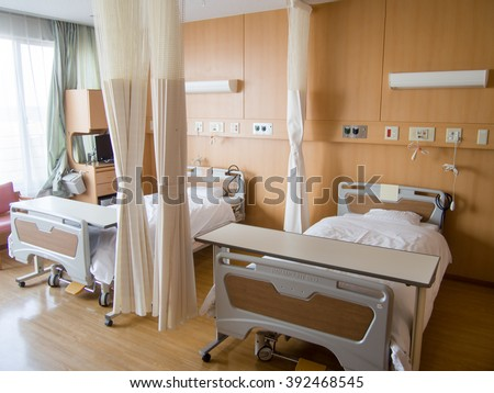 Comfortable hospital bed  #392468545