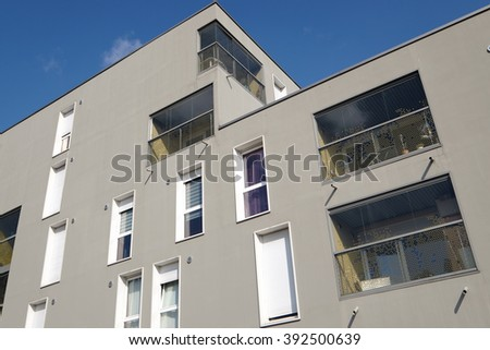 Lille, France - March 3, 2016: view of building in the district of Euralille  #392500639