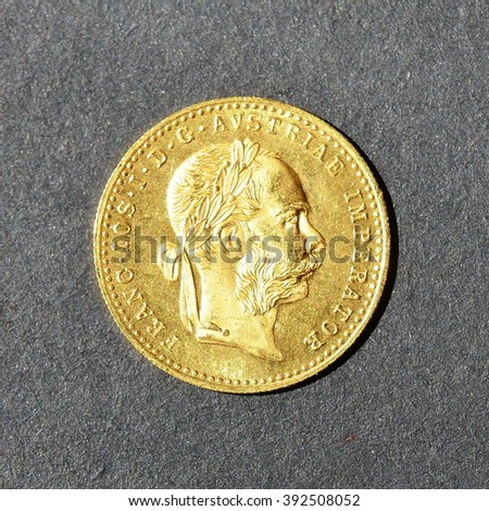 "Gold coin ""FRANC IOS"" -Austrian, front #392508052"