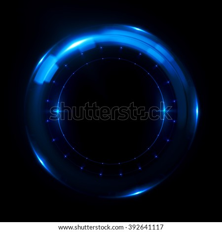 Abstract ring background with luminous swirling backdrop. Glowing spiral. The energy flow tunnel. shine round frame with light circles light effect. glowing cover. Space for your message. clock face