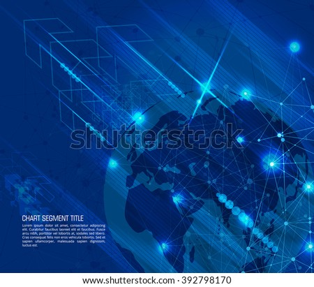 Blue Abstract Mesh Background with Circles #392798170