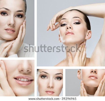 a beauty girl on the grey background #39296965