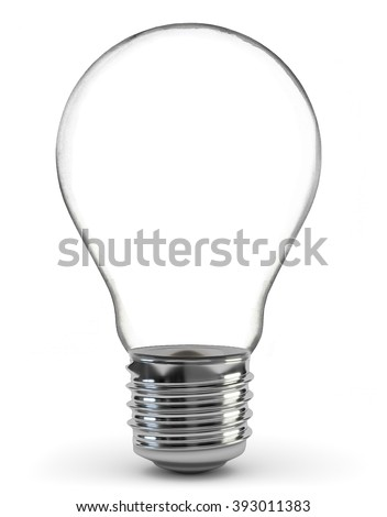 Light bulb, isolated, Realistic photo image #393011383