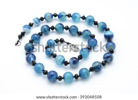 beads from natural stones isolated #393048508