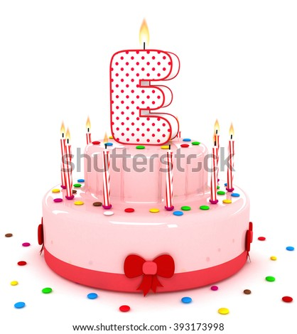 """3d cute letter """"E"""" rendering colorful birthday cake alphabet with sweet candle and decorate ribbon  isolated over white background #393173998"""