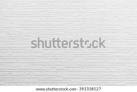 White concrete brick wall pattern texture for background. #393338527