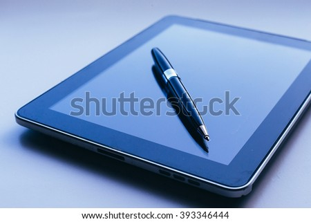 Business concept, work on tablet  #393346444