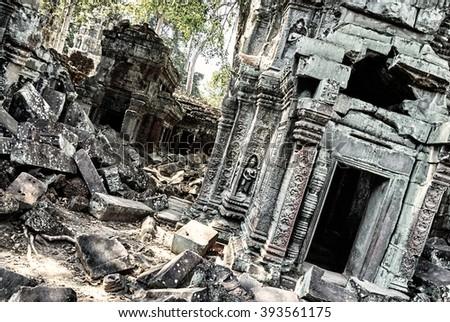 design element. abandoned temple photo, Angkor Wat, Cambodia #393561175