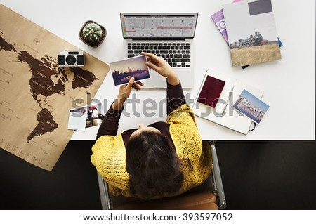 Woman Planning Schedule Trip Vacation Concept