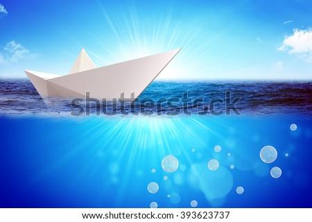 Origami paper boat #393623737