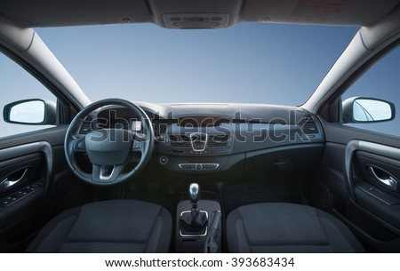 Car inside composition. Concept and idea  Royalty-Free Stock Photo #393683434