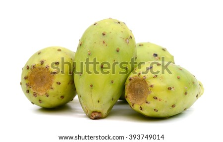 green cactus pears on white background  #393749014