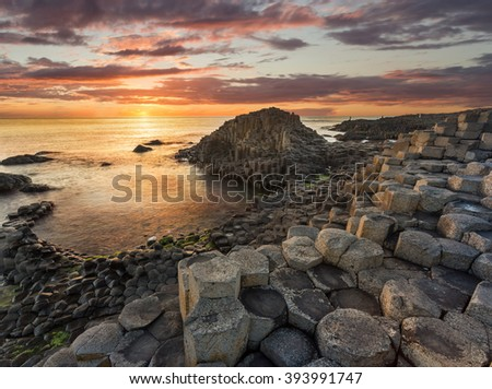 Giant's Causeway, Antrim, Northern Ireland Royalty-Free Stock Photo #393991747