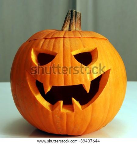 Halloween Jack-o'-Lantern smiling #39407644