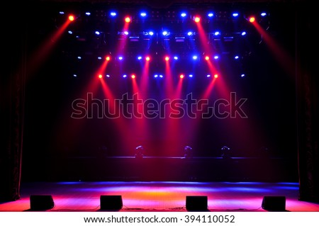Free stage with lights Royalty-Free Stock Photo #394110052