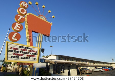 poster red motel in Las Vegas, Usa #39434308