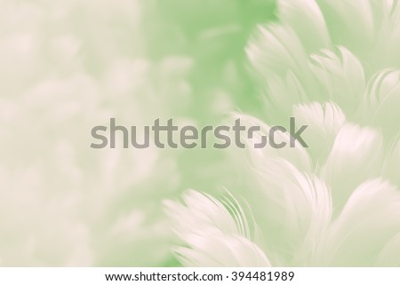 Fluffy fresh pastel lime green feather fashion design background - fuzzy textured soft focused closeup - Fashion Color Trends Spring Summer 2016 #394481989