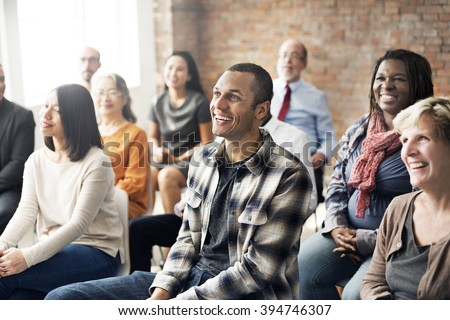 Corporate Seminar Conference Team Collaboration Concept Royalty-Free Stock Photo #394746307