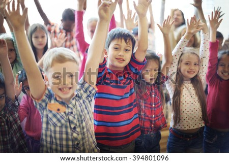Students Children Cheerful Happiness Concept #394801096