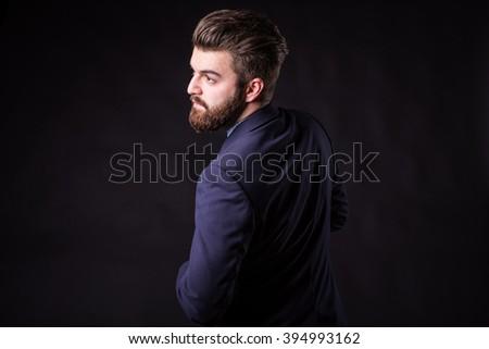 man with beard in suit, homogeneous #394993162