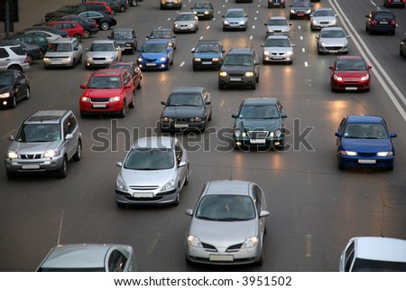 cars on evening road #3951502