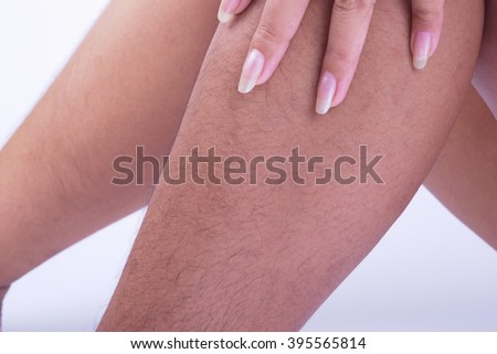 Hairy legs of Women long and very ugly.