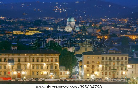 Florence. The building of the city's synagogue. #395684758