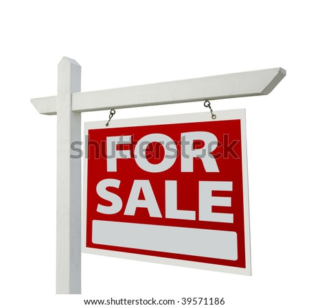 Home For Sale Real Estate Sign Isolated on a White Background. #39571186