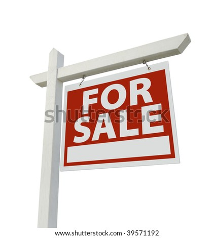 For Rent Real Estate Sign Isolated on a White Background. #39571192