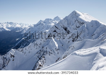 The peak of the mountain