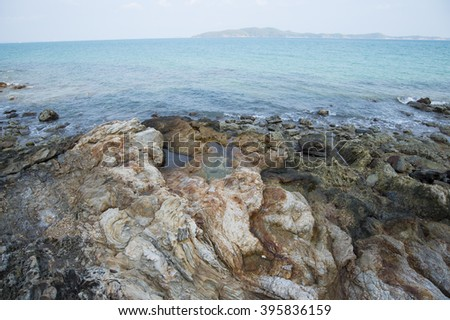 Rock Beach in Thailand #395836159
