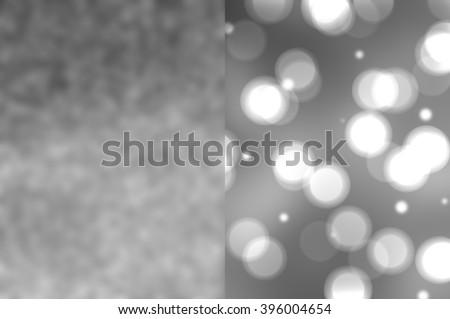Bokeh light, shimmering blur spot lights on blue and silver. #396004654