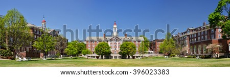 Radcliffe Quadrangle (The Quad) at Harvard University Royalty-Free Stock Photo #396023383