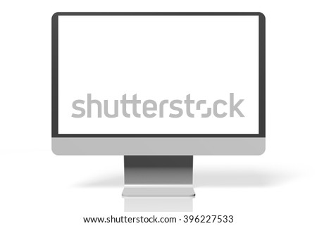 3D illustration - monitor.