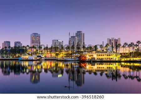 Long Beach, California, USA skyline. Royalty-Free Stock Photo #396518260