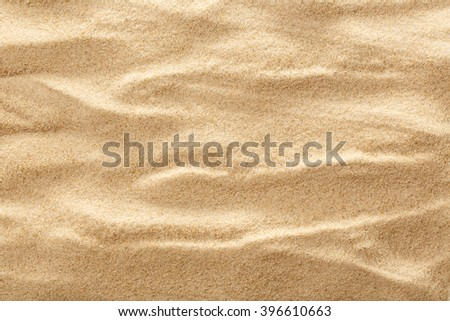 Wavy sample of beach sand as background #396610663