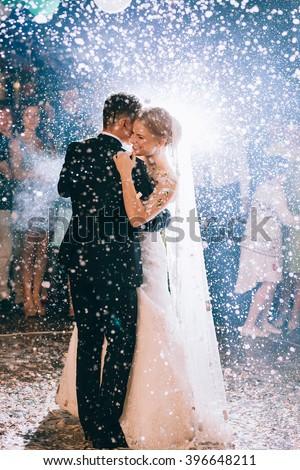 romantic dance by wedding couple #396648211