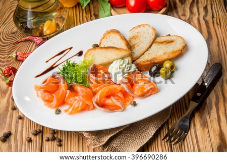 healthy food beautiful and tasty food on a plate #396690286