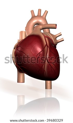 Digital illustration of  heart  in isolated background #39680329