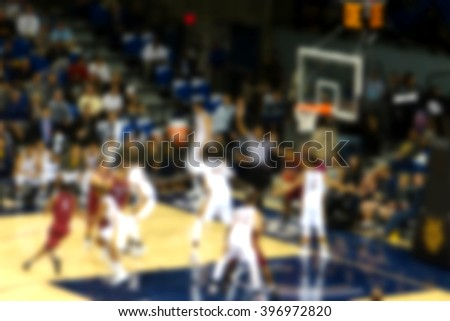 blurred background of basketball game               #396972820