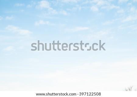 blue sky clouds #397122508