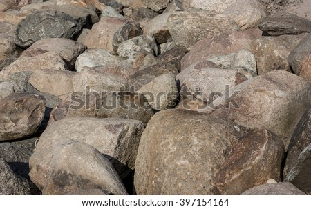 Granite stones at the beach  #397154164
