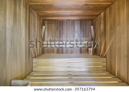 the interior of the sauna #397163794