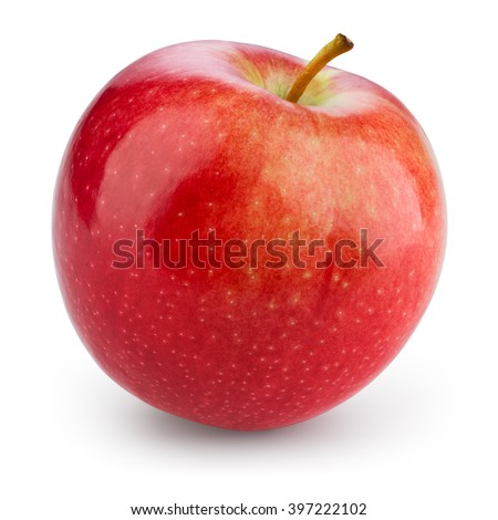 Fresh red apple isolated on white. With clipping path Royalty-Free Stock Photo #397222102